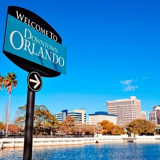 Photo of downtown Orlando, Florida sign