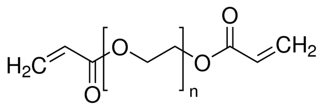 Structure of poly(ethylene glycol) diacrylate