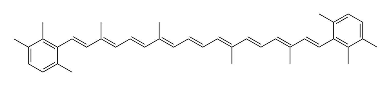 General structure of a carotenoid