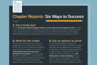 Chapter Reports: Six Ways to Success image