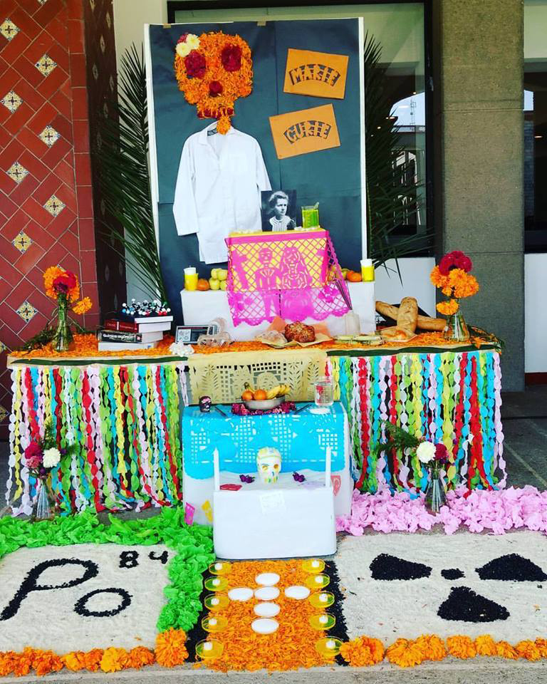 Day of the Dead altar for Marie Curie
