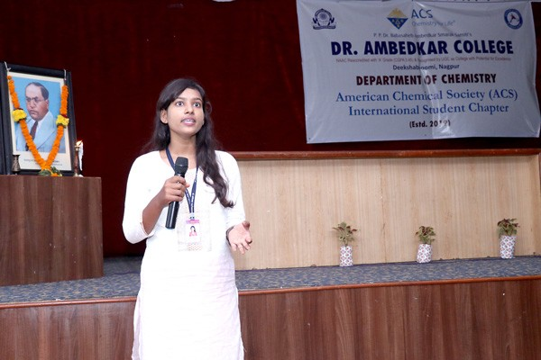 Ms Aarti Gupta, Member ACS International Student Chapter