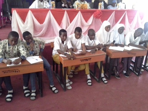 Selected secondary schools during the quiz competition